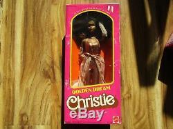 Vintage Golden Dream Christie Black African American Barbie Doll 1980 #3249