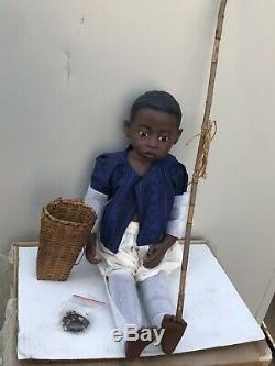 Vintage Gotz Doll African American Boy 23 Doll West Germany