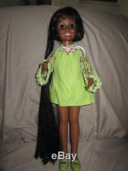Vintage Ideal African American AA Black Crissy Doll withoriginal clothes shoes