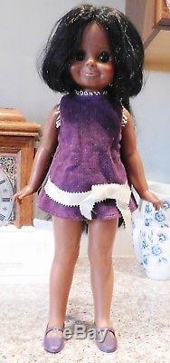 Vintage Ideal Crissy Family Velvet. African American Doll Original Dress & Shoes
