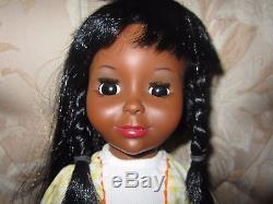 Vintage Ideal Tara Doll Black African American AA Original No box Crissy Family