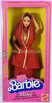 Vintage India Barbie Doll Dolls of The World Collection #3897 NRFB 1981 Mattel