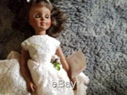 Vintage Madame Alexander 18'Leslie' DOLL African American hang tag 1964