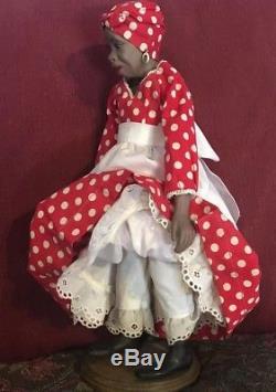 Vintage Maggie Head Kane African American 1967 Biscuit Doll