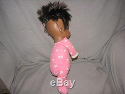 Vintage Mattel Black African American Drowsy Baby Girl Doll Pull String Original