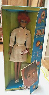 Vintage Mod Barbie Sz Julia Twist & Turn Doll W Wrist Tag Stand Mib Nrfb