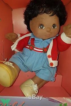 Vintage My Child Doll Rare African American Black Boy Girl Mattel Still In Box