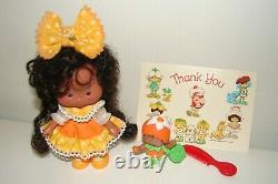 Vintage Original Strawberry Shortcake Orange Blossom Berrykin Doll and Critter