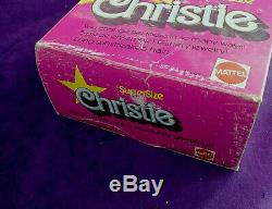 Vintage RARE Supersize Superstar Christie NRFB African American Barbie BIN