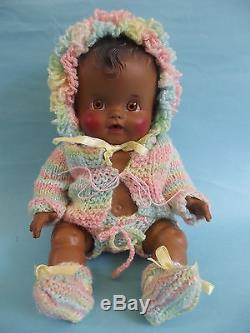 Vintage So-Wee Ruth Newton AFRICAN AMERICAN SUNBABE BABY DOLL Sun Rubber 9.5