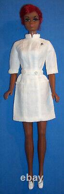 Vintage Twist'n Turn Red Hair Black Nurse Julia Doll #1127 TNT & BL 1969 Barbie