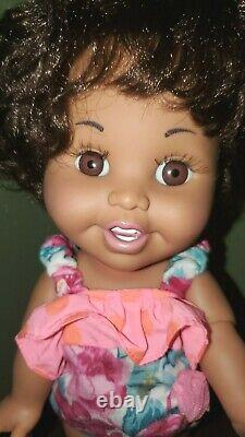 Vintage galoob baby face doll #14 So Tender Tina African American 13 with outfit