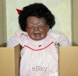 Virginia Ehrlich Turner 20 Porcelain Crying African American Doll Keisha