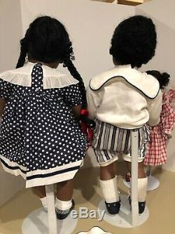 Virginia Turner Vinyl AFRICAN AMERICAN TWINS 28 Black Artist Dolls EUC Set Of 2