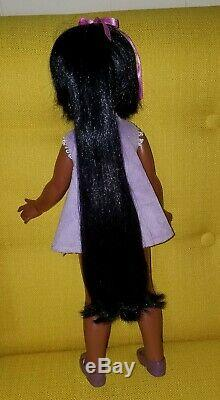 Vtg 60s Ideal Black African American VELVET Doll w Clothes Shoes HTF Box Crissy