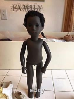 Vtg Caleb Black African American SASHA Doll ORIG withTAG England