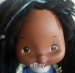 Vtg Hallmark Rainbow Brite Indigo Doll 1983 Color Kid Purple African American