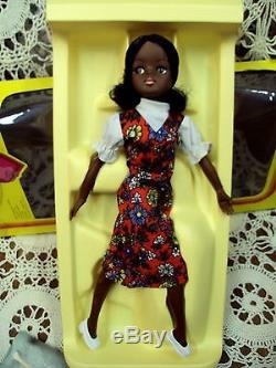 Vtg Lot/2 MARX Rare Black African American Mint Cond. SINDY Dolls with Boxes