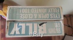 Vtg Rare 1969 Remco Brown Eye Billy African American Black Doll w Box McBurrows