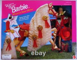 Western Stampin' African American Barbie with Western Star Horse Special Edit