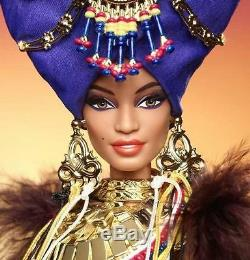 World Glamour Collection Gold Label Tribal Beauty Barbie Doll & Zebra Scepter