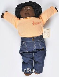 Xavier Roberts Little People Soft Sculpture Cabbage Patch Doll John Cosmo papers